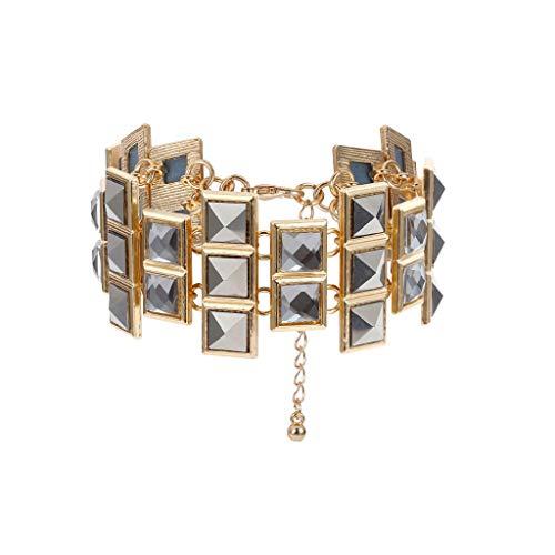 UINGKID Damen-Armband Armreif Luxuriöser Schmuck Temperament Lady Unregelmäßiger Edelstein-Diamantarmband (Verkauf Make-up Ganze)