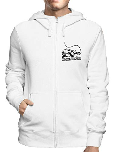 Sweatshirt Hoodie Zip Weiss FUN2550 Muskie Hunter Hunter Zip Hoodie