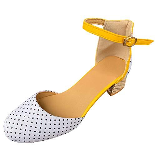 Runde Kappe Atmungsaktive High Heels Sandalen Schnalle Tanzen Schuhe Damen Schuhe Tanzschuhe Ballsaal Latin Tanzen Sandalen Plateau Sandaletten ()