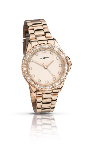 Sekonda Women's Quartz Watch with Rose Gold Dial Analogue Display and Rose Gold Alloy Bracelet 4253.27