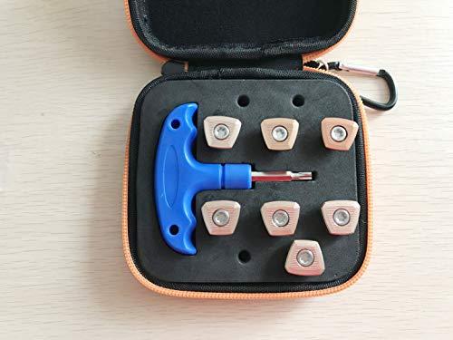 7X Golf Gewichte Set Koffer Werkzeug für Ping G400 / G400 Max LS SF Driver Fairway Holz Hybrid (Ping Hybrid Golfschläger)