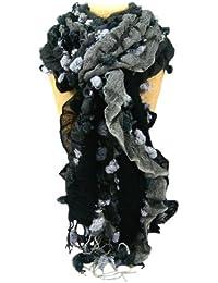 Ladies Fashion Scarf, Stylish, Soft, Ruffled, Long, Great Colours, Warm.