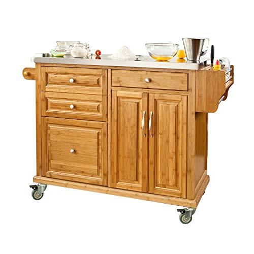 Luxus-Küchenwagen mit Edelstahlplatte