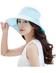 Autek capeline Chapeau soleil chapeau d'été femme anti UV