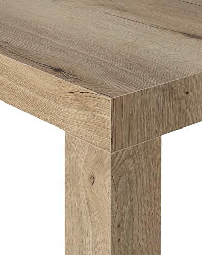 icreo Konsolentisch ausziehbar Atena nodato Natur Eiche Echtholz cm 46/306x 90H75in Spanplatten Melamin von hoher Qualität mit 5Verlängerungen von cm.52. Komplett Italienisch