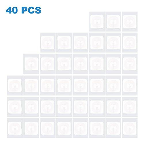 TimesKey NFC Tag NXP NTAG 215 NFC Sticker, 504 Bytes Speicher, 1 inch x 1 inch Platz, können Sie Ihre eigenen Amiibo Tagmo machen -40 PACK