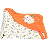 Mee Mee Warm and Soft Wrapper Blanket with Hood, Orange