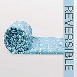 Divine Casa Luxor Abstract Microfibre Single Comforter - Blue