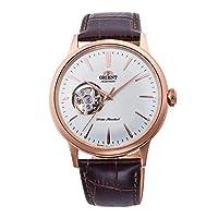Orient heren analoog automatisch horloge met lederen armband RA-AG0001S10B