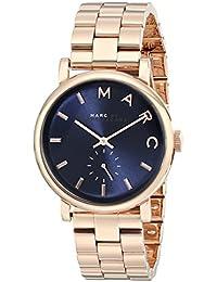 Marc Jacobs MBM3330 - Reloj con correa de piel para mujer, color azul / gris