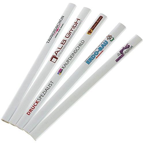 100 Stück Zimmermannsstift Zimmermannsbleistift 175 mm mit Druck Fotodruck 4-farbig, einseitig