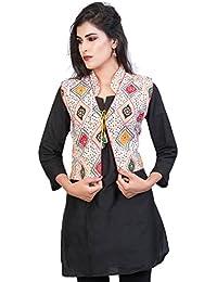 Banjara India Kutchi Printed Jacket - White
