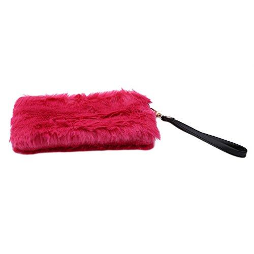 LJSLYJ Damen Handtasche Clutch Classic Abendtasche Kosmetiktasche (Rose Rot)