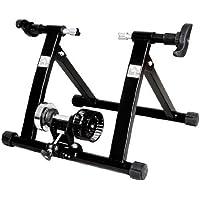 Homcom Rodillo Entrenamiento Bicicleta Acero Cicloentrenador Negro Bici Interior Ciclismo…