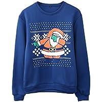 SWEAAY Navidad Suéter De Dibujos Animados De Santa Slim Fit Pareja Suéter De Punto Otoño Invierno Moda Ropa, como Muestra La Imagen, XXL