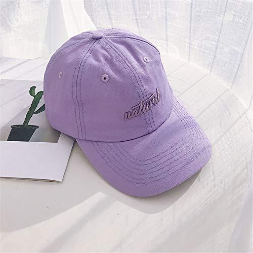sdssup Japanische Harajuku Army Green Baseball-Mütze Männer dreidimensionale Stickerei Korean Soft Top Retro Sonnenschirm Sonnenhut weiblich NAT 紫色 紫色 可