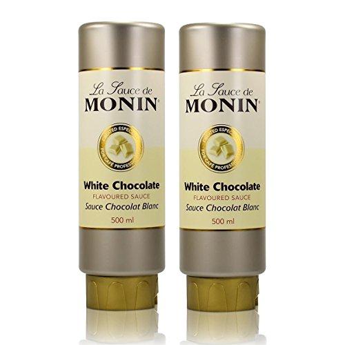 2x Monin Weiße Schokolade Sauce 500 ml – White Chocolate Flavoured Sauce
