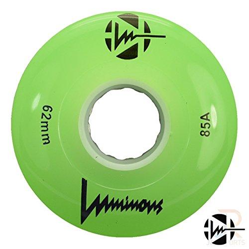 Luminous Green Light up Quad Roller Skate-Rad (62 mm) (Einzelrad) (Roller Up Skates Light)