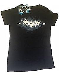 BATMAN - DARK KNIGHT RISES - T-SHIRT OFFICIEL FEMME - Noir, X-Large
