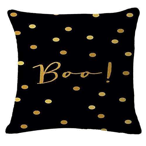 fablcrew Halloween Kissenbezug Kissenbezug, quadratisch Leinen pillowslip Office Home Sofa Decor, baumwolle, #4, 45*45cm