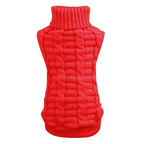 Silvercell Haustier Hund Katze Warme Pullover Kleidung Kleine Hundchen Mantel Teile Rot M