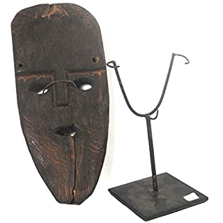 Terrapin Trading Traditional Atoni Animist Tribal Protective Paddle Mask Frm West Timor W Stand 6