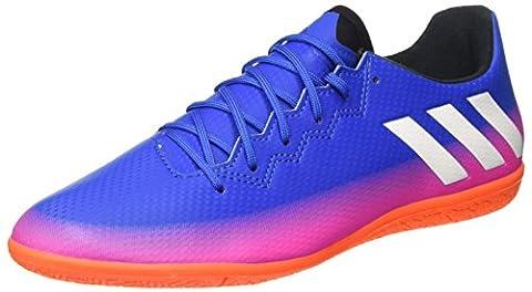 adidas Messi 16.3 IN, Chaussures de Football Compétition Homme, Multicolore (Blue/Ftwr White/Solar Orange), 43 1/3 EU