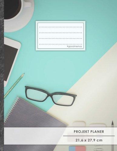 """PROJEKTPLANER A4 • 70+ Seiten, Soft Cover, Register, """"Influencer"""" • #GoodMemos • Linke Seite für Planung (To Do Listen, Datum uvm.); Rechte Seite für Notizen"""