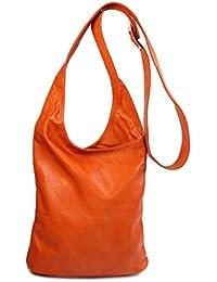 BELLI® ital. Schultertasche Cross Over Bag Nappa Leder Handtasche - Farbauswahl - 24x28x8 cm (B x H x T)
