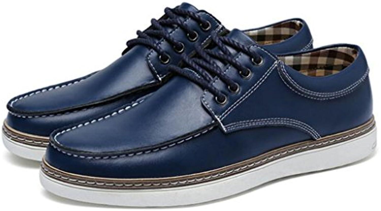 GAOLIXIA Zapatos casuales de negocios de cuero de los hombres Zapatos ocasionales respirables de la primavera