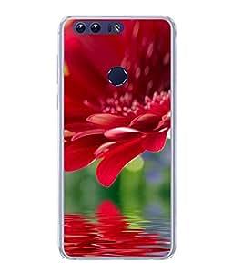FUSON Designer Back Case Cover for Huawei Honor 8 (Multi Colour Flowers Fool Pushp)