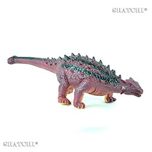 Gifts 4 All Occasions Limited SHATCHI-873 - Figura de dinosaurio de goma para niños, modelo de juego táctil con sonido, multicolor