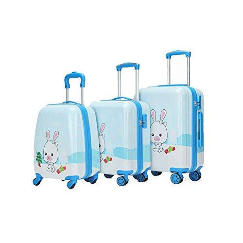 Gm 4-rad (YUNY Kindergepäck, 4-Rad-Kinderrucksackwagen, Kinderkoffer, Kinderhandgepäck, leichter Kinderwagen, geeignet für Reisetaschen oder Spielzeug (mehrere Muster)-G-M(19in))