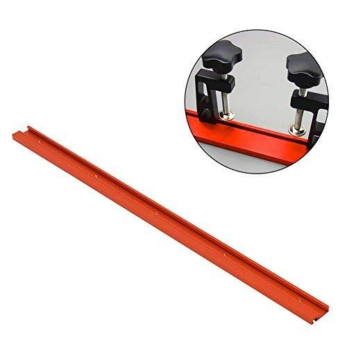 Gehrungsschiene Führungsschiene Typ 45 Aluminiumlegierung T-Track Gehrung Schiene für Tischkreissäge Holzbearbeitung Woodworking Tools DIY T-Slot Rot