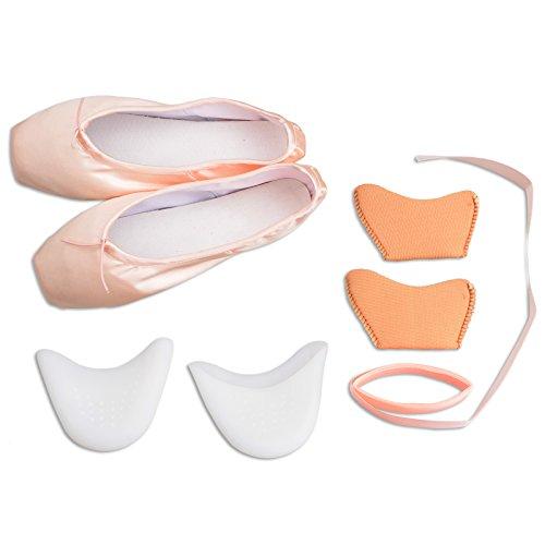 Ballet Zapatos de Punta de la danza para niña / mujer (EU 40=9.84 inch, Rosa)