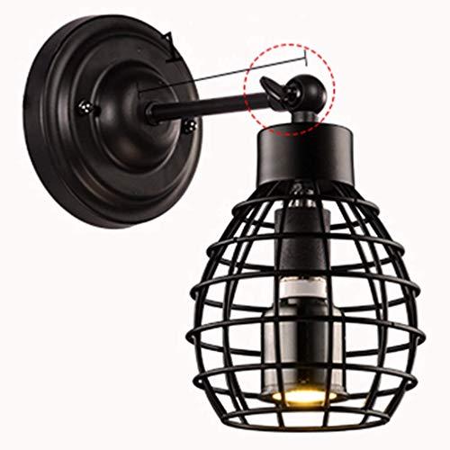 Retro Industrielle Verstellbare Winkel Leuchte Wandleuchte Vintage Schwarze Lampe Wandleuchte E27 Loft Kreative Treppe Schlafzimmer Nachttischlampe Innen Metall Eisen Durchbrochene Design Licht Wandst -