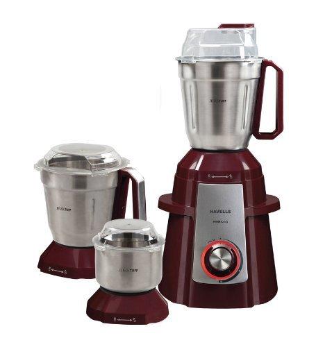 Havells Premio 750-Watt Mixer Grinder with 3 Jars (Cherry)
