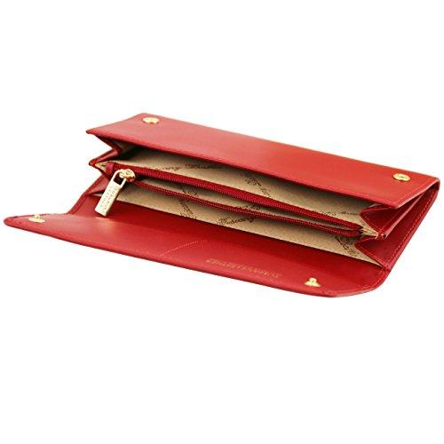 Tuscany Leather Esclusivo portafogli donna in pelle Ruga a 2 scomparti Rosso Portafogli donna in pelle Rosso