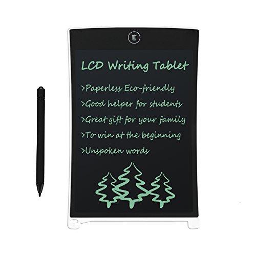 LCD Writing Tablet 8.5 Zoll CHAOCHI Schreibplatte Digital Schreibtafel Papierlos Grafiktablet Schreiben Tabletten für Kinder Schule Graffiti Malen Notizen EIN Guter Helfer in Arbeit Familie (Weiß)