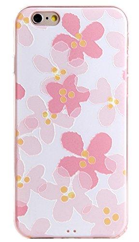 Voguecase® Pour Apple iPhone 6 Plus/6S Plus 5,5, TPU avec Absorption de Choc, Etui Silicone Souple, Légère / Ajustement Parfait Coque Shell Housse Cover pour Apple iPhone 6/6S 4,7 (ADVISORY)+ Gratuit  Peu Pink fleur 02