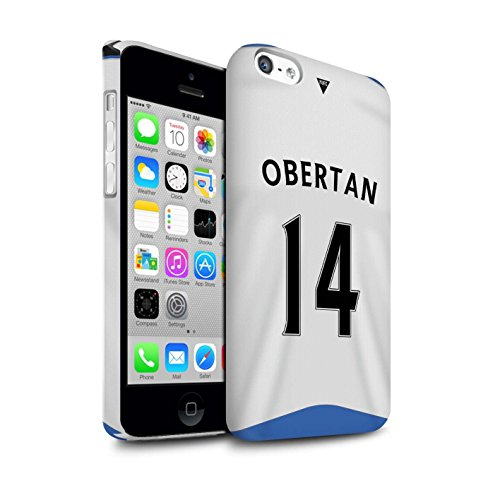 Offiziell Newcastle United FC Hülle / Matte Snap-On Case für Apple iPhone 5C / Pack 29pcs Muster / NUFC Trikot Home 15/16 Kollektion Obertan
