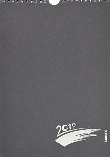 Foto-Malen-Basteln A4 anthrazit mit Folienprägung 2019: Kalender zum Selbstgestalten
