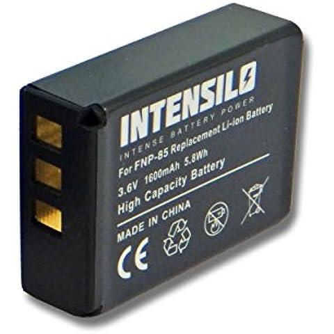 Batteria INTENSILO Li-Ion 1600mAh (3.6V) per Videocamera Easypix DVX5233 Optimus sostituisce NP-85, CB170, PA3985.