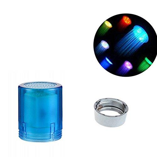 HOMYY Colorful LED Glowing Wasser Wasserhahn Temperatur Sensor Farbwechsel Waschbecken Wasserhahn Filter Badezimmer Küche Zubehör, Mehrfarbig, Free Size -