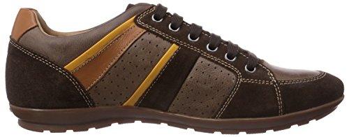Geox - Uomo Symbol A, Sneaker basse Uomo Marrone (Braun (CHESTNUT/DK BROWNC6034))