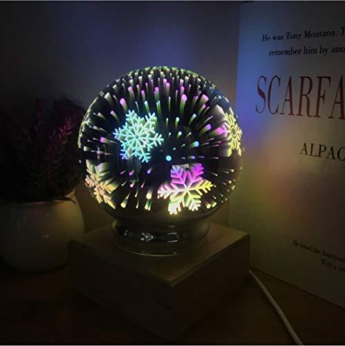 Nachtlichter 3D Magie Kristall Lampe Usb Blenden Bunte Kugel Stern Herz Feuerwerk Glas Schornstein Acryl Kinderzimmer Dekor