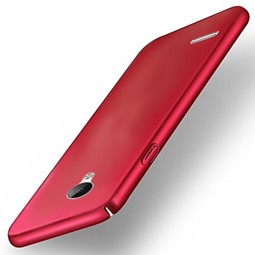 """Vivo Y21L All Sides Protection """"360 Degree"""" Sleek Rubberised Matte Hard Case Back Cover (Red)"""