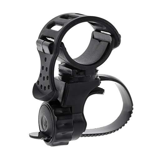 Tubicu Metalldetektor Fahrrad-Taschenlampenhalter Pin Pointer Halter Taschenlampe Halterung passend für alle Arten von Untergrund-Detektoren