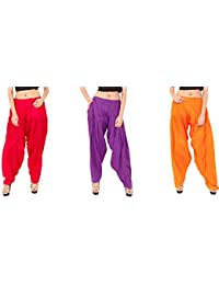 Rayon Patiala For Women Free Size Combo Pack Of 3 Patiyala Free Size - B077VWG4N8