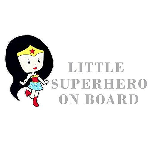 Reflektierende Autoaufkleber farbig, Baby an Board mit Superhelden ca. 20x10cm (Captain America Frau)